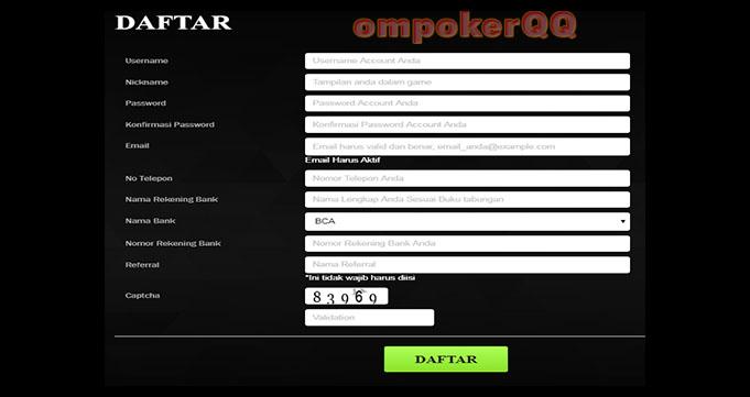 Daftar Akun PokerQQ Online